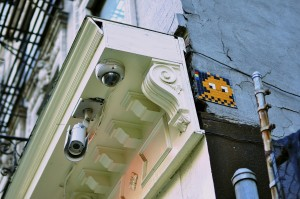 Space Invader on the LES in NYC. OMG.