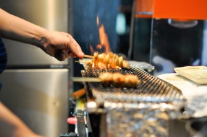 Yakitori master at work